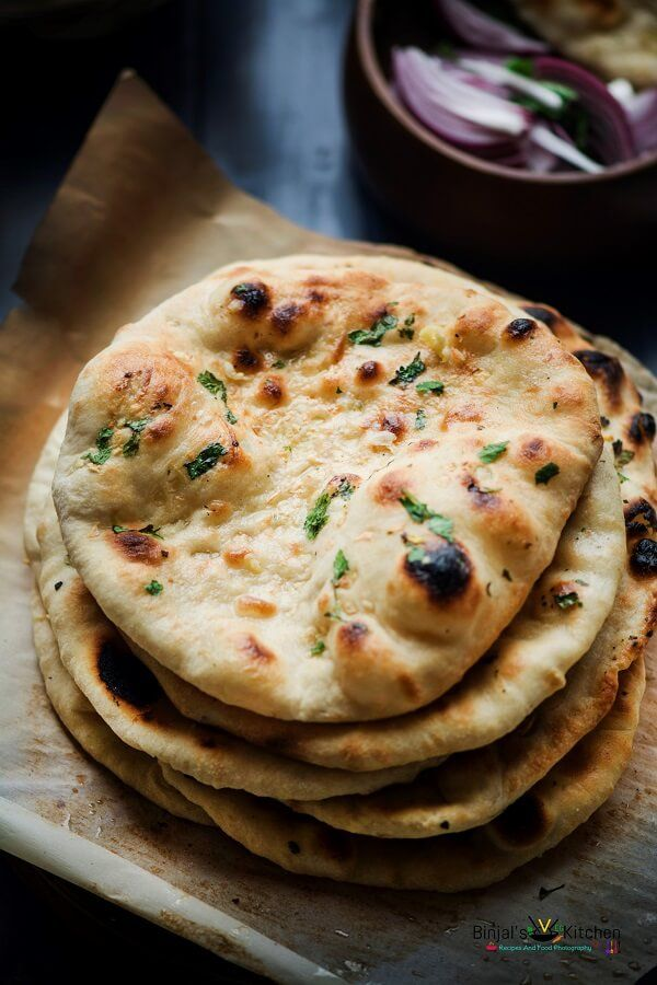 No Yeast Whole Wheat Garlic Naan Recipe With Images Recipes