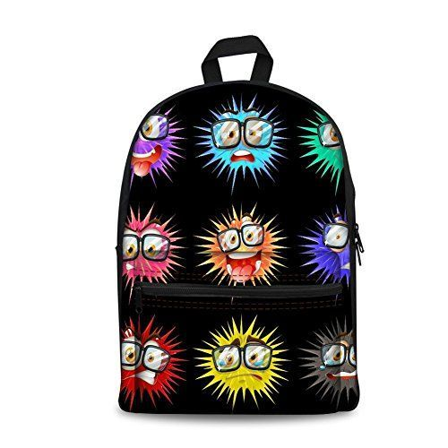 Cartoon Cute Students Canvas School Bags Men Women Unisex Casual Punk Style Backpacks For Sale