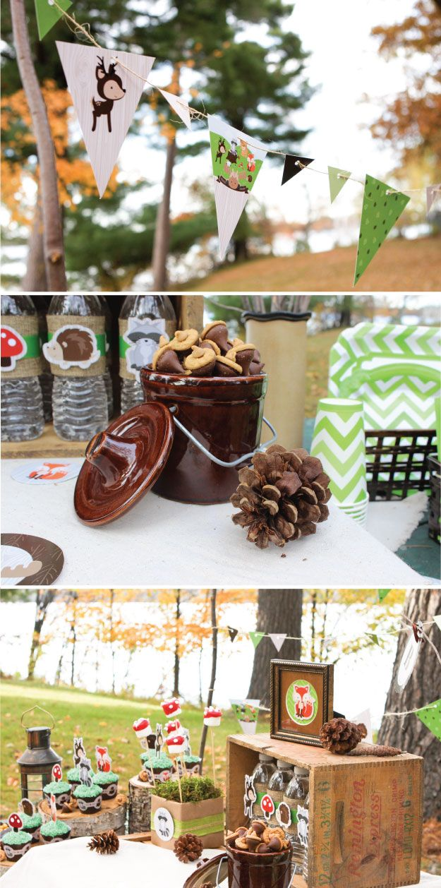 Woodland Creatures Party Inspiration Baby Shower Ideas