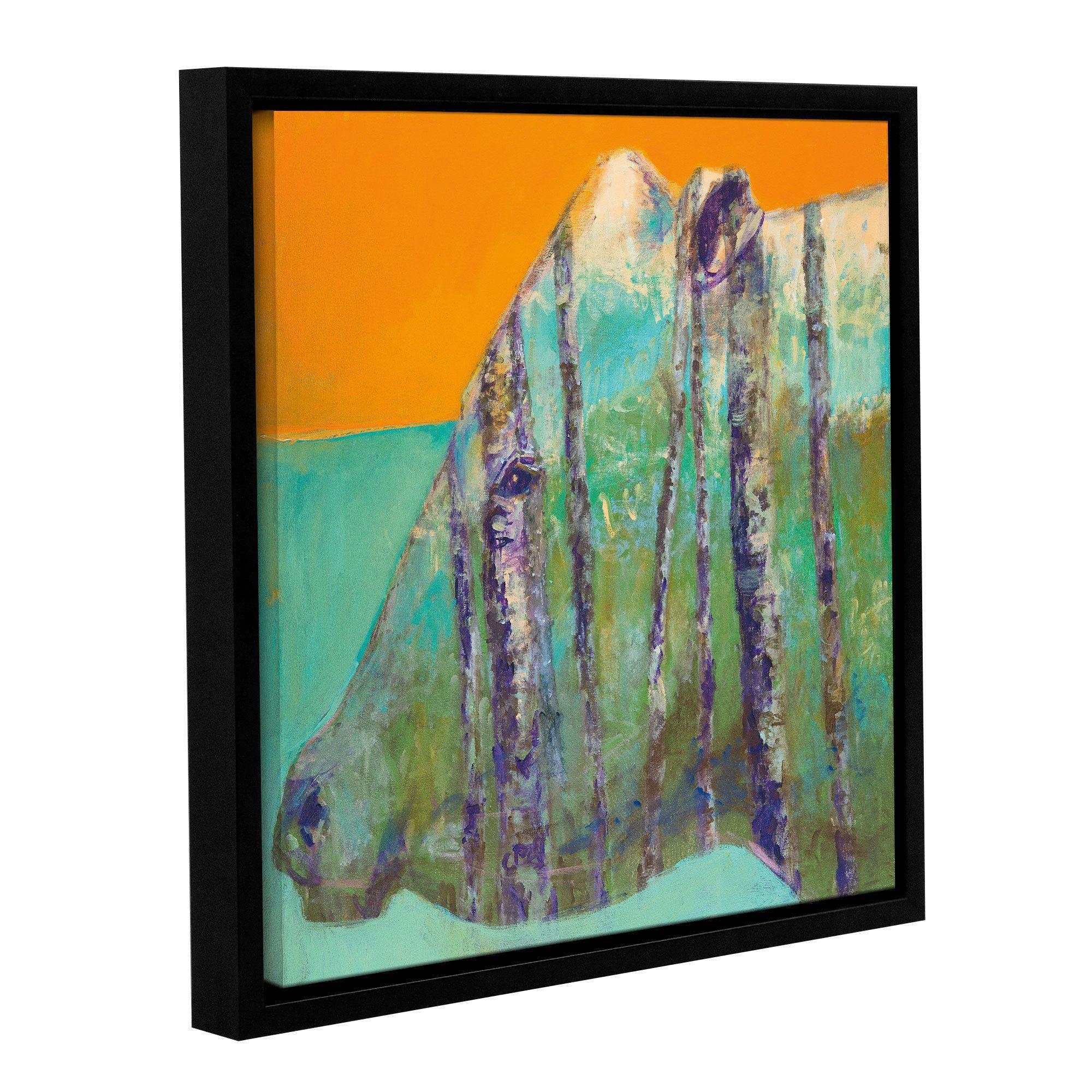 ArtWall JC Pino's Aspen Bull Gallery Wrapped Floater-framed