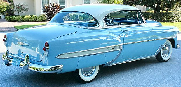 1953 Chevrolet Bel Air Sport Coupe India Ivory Over Horizon Blue Chevrolet Bel Air Chevy Chevrolet
