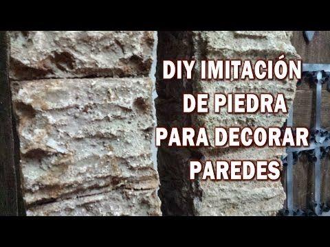 Diy Imitacion De Piedra Rustica Hazlo Tu Y Decora Tu Casa Imitation Stone Rustica Unas Con Piedras Videos De Manualidades Manualidades