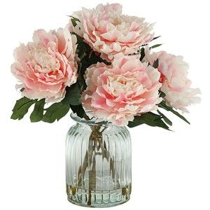 Awesome Silk Pink Peonies