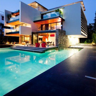 Modern house with poolMy future home when I become a