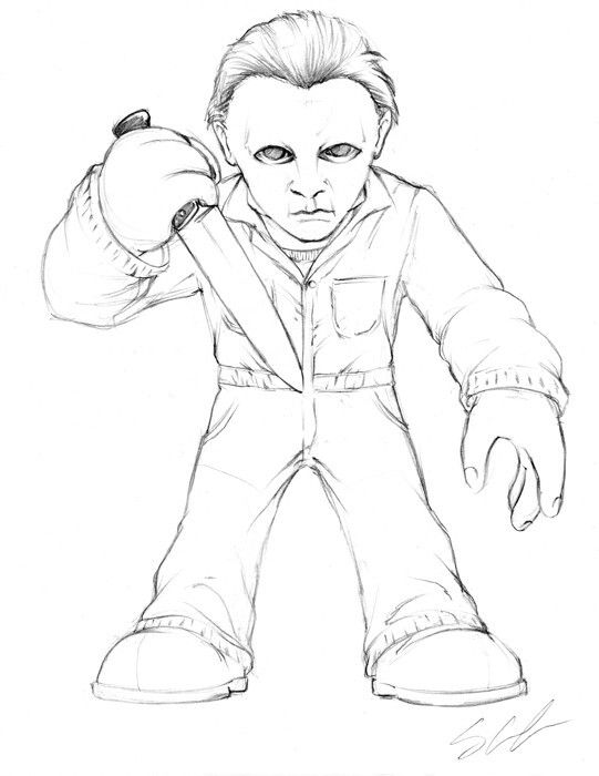 michael myers coloring pages Pin by April Dikty ( Ordoyne) on Horror Coloring | Michael myers  michael myers coloring pages