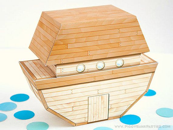 Noahs Ark Resin Money Bank Boat