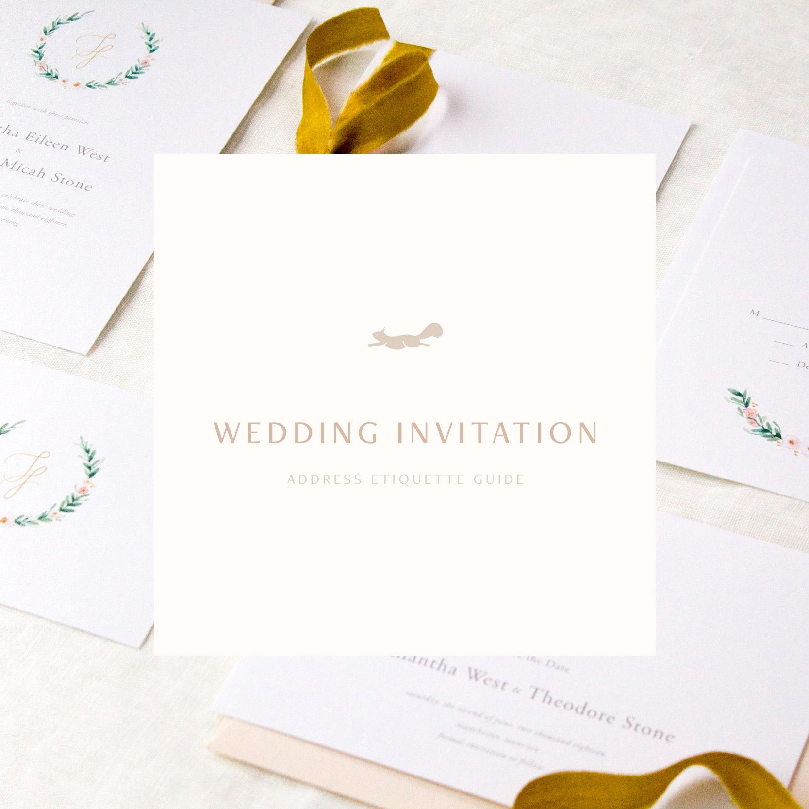 FREE Wedding Invitation Address Etiquette Guide | Download Freebie ...