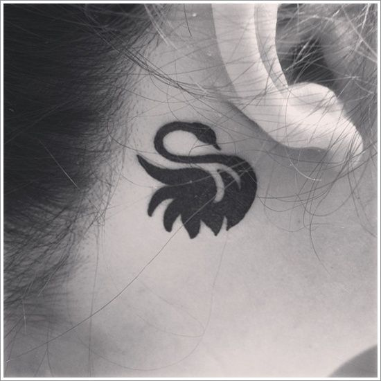 c75a02a7da695 30+ Dazzling and Eye-Catching Swan Tattoo Designs | SwanSong | Small ...