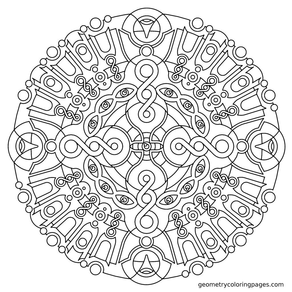 Geometry Coloring Pages | Geometric coloring pages ...