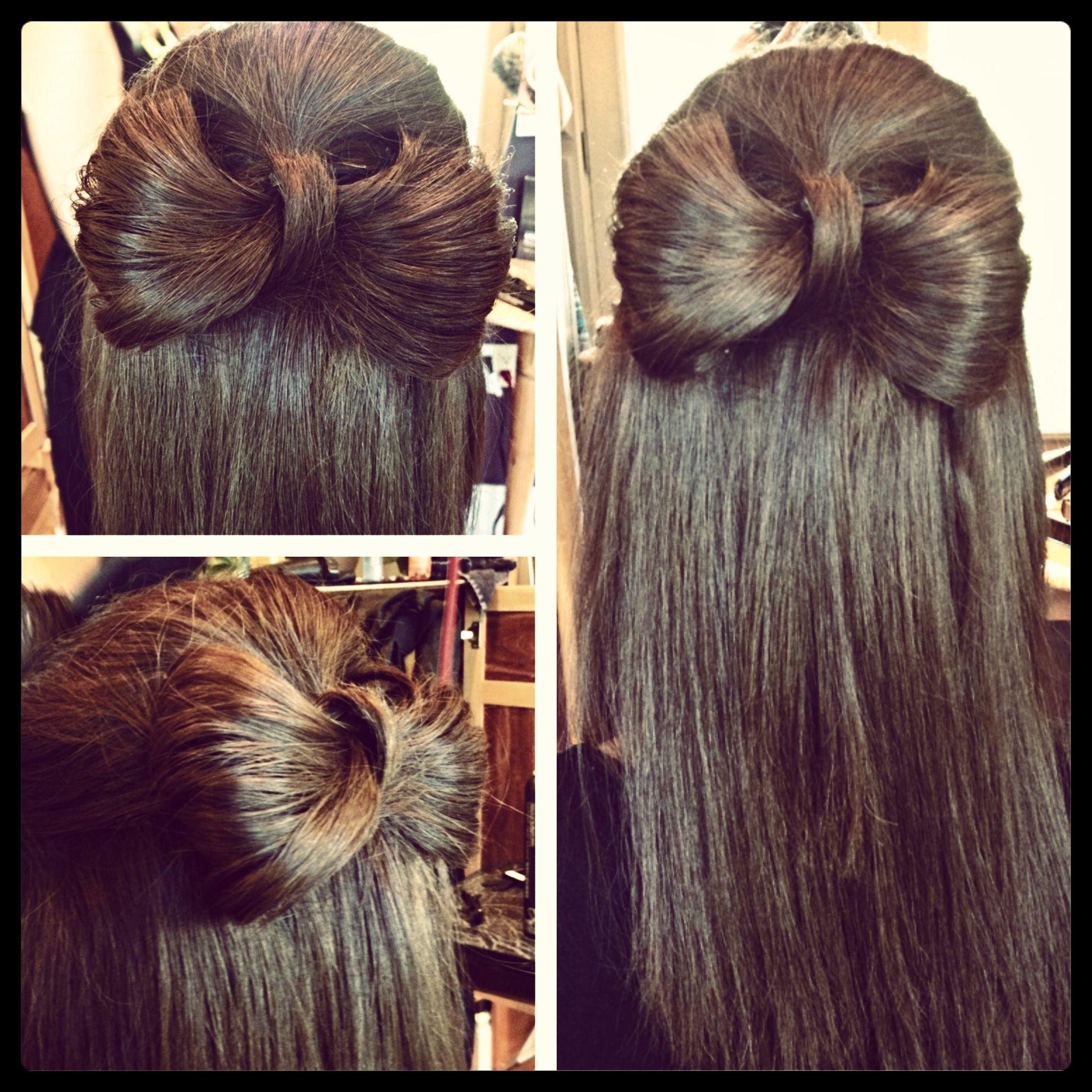 #bridesmaid #hairstyle #bow