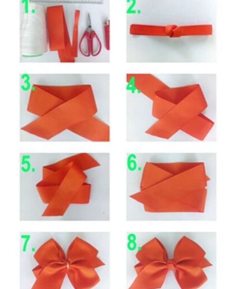 Gente Olha Que Passo A Passo Simples E Bonito Making Hair Bows Cheap Valentines Day Gifts Diy Hair Bows