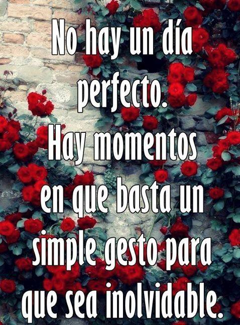 No hay un día perfecto.*
