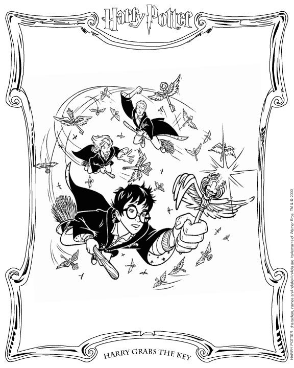 coloring page Harry Potter Kids-n-Fun | Harry Potter * Fan Art ...