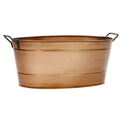 Wayfair Len gracie oaks len steel beverage tub finish brown size 9 h x 21 w
