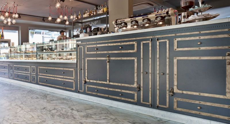 Arredamento Bar Su Misura.Officine 900 Arredamento Bar Su Misura 硬装 吧台 Cafe Counter