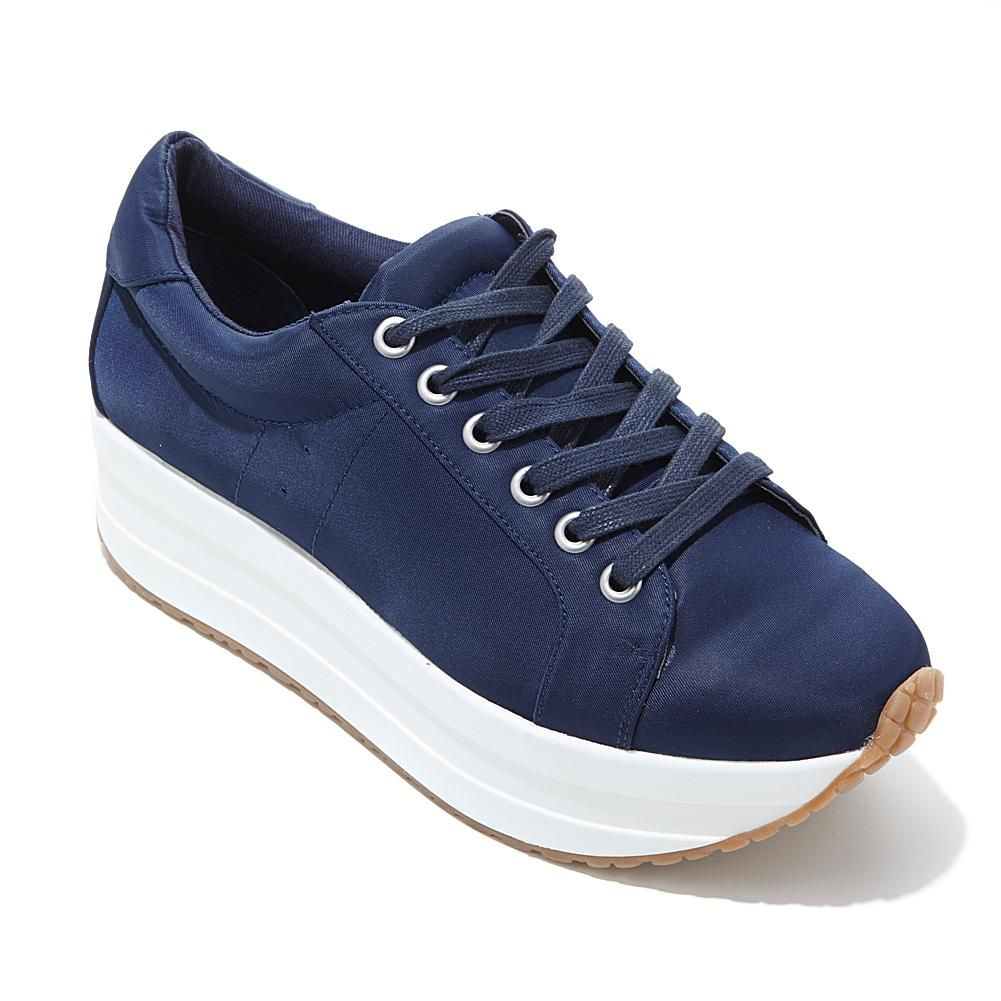 Steven by Steve Madden Barb Fabric Platform Sneaker - Blue