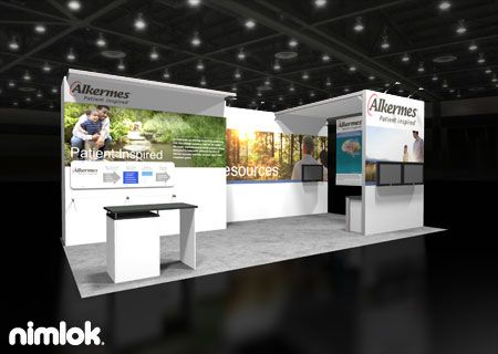 Nimlok Portable Exhibition Stand : Nimlok creates and builds portable trade show exhibits and
