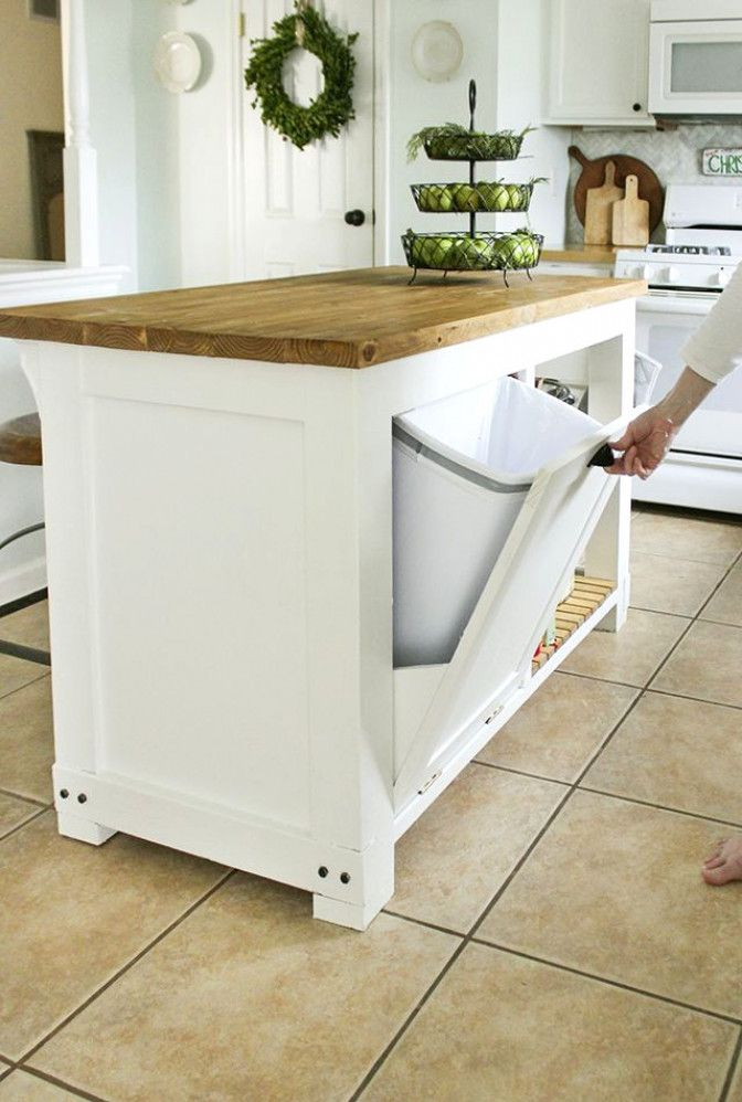 #KitchenRenovation #DiyKitchenRenovation #CoolKitchens #DiyCountertops #Countertops #TrashStorage