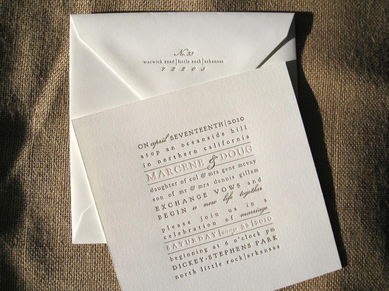 Textblock letterpress invitation too many words though i hate