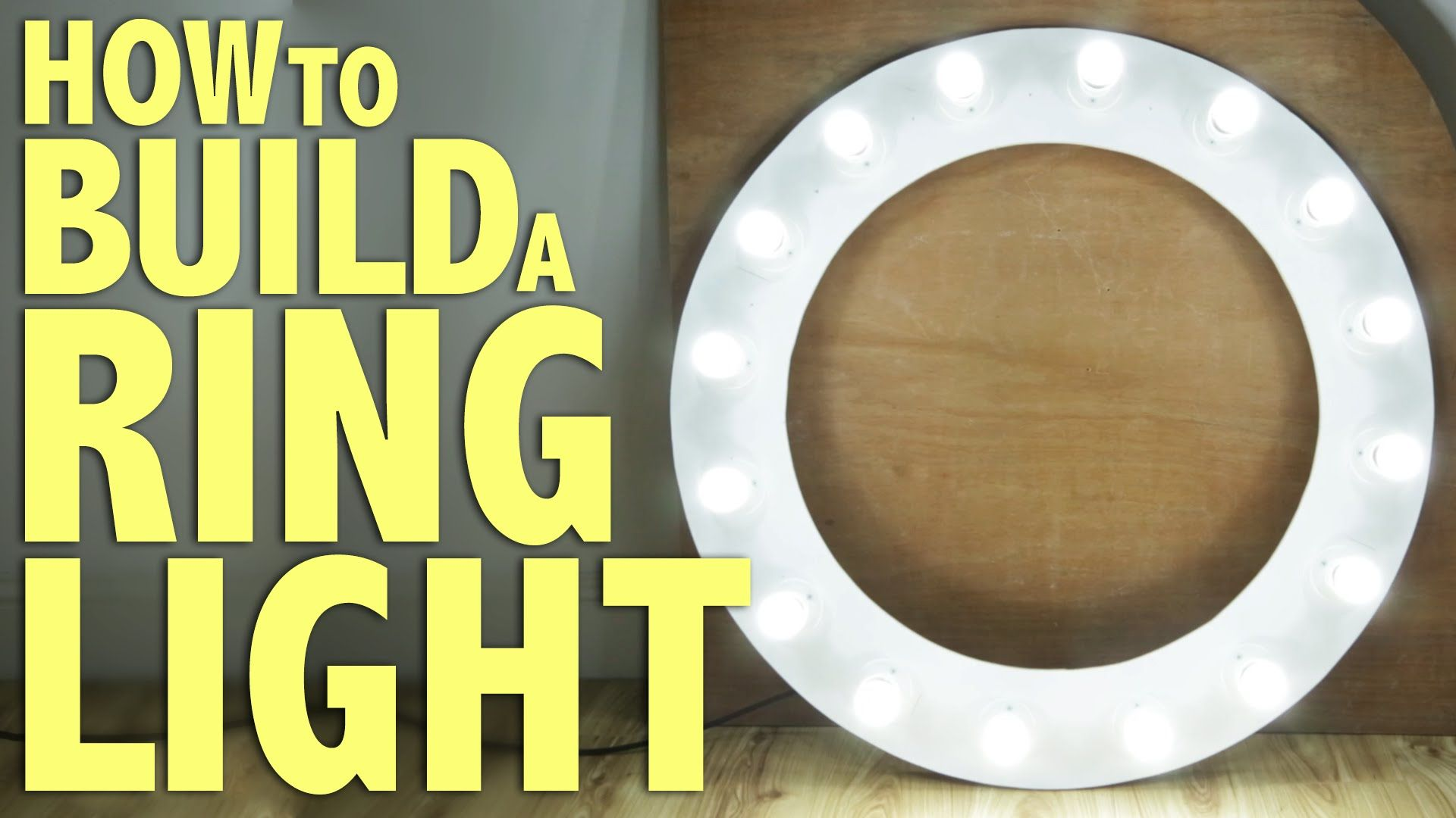 How to build a Ring Light DIY Photography Tutorial Diy