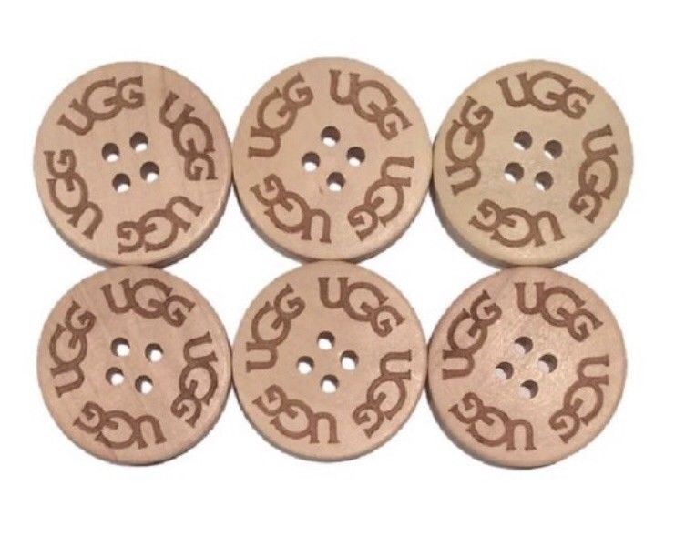 3cm. spare, extra 3 UGH Three Black UGGs Replacement Buttons for your Boots