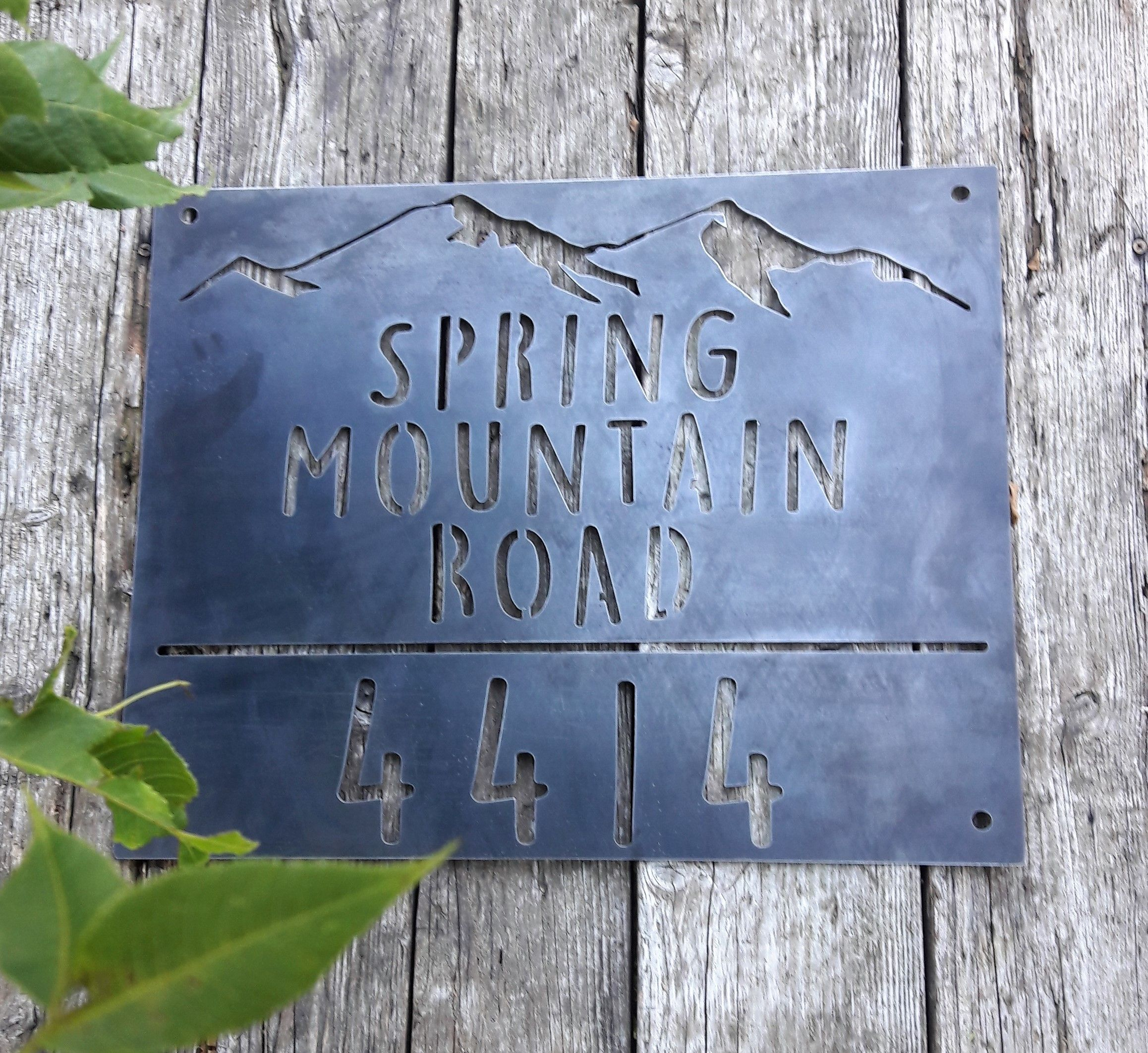 Custom Metal Hanging Address Sign  House Numbers
