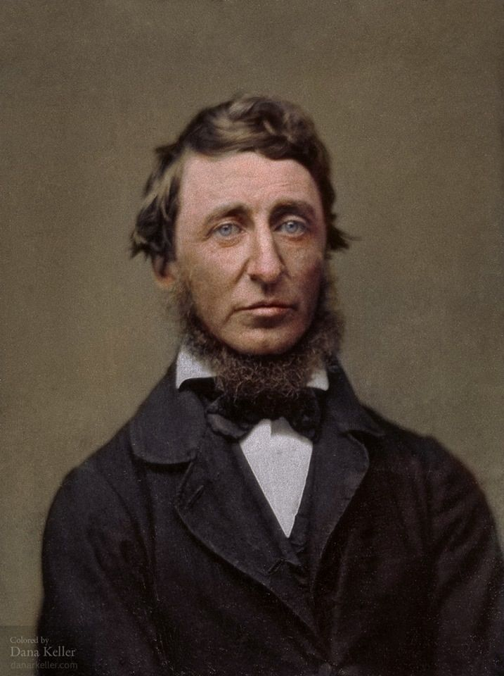Henry David Thoreau In 1856 Born July 12 1817 Colorized From History Color On Fb Portrait Oscar Wilde Essay Disobedience