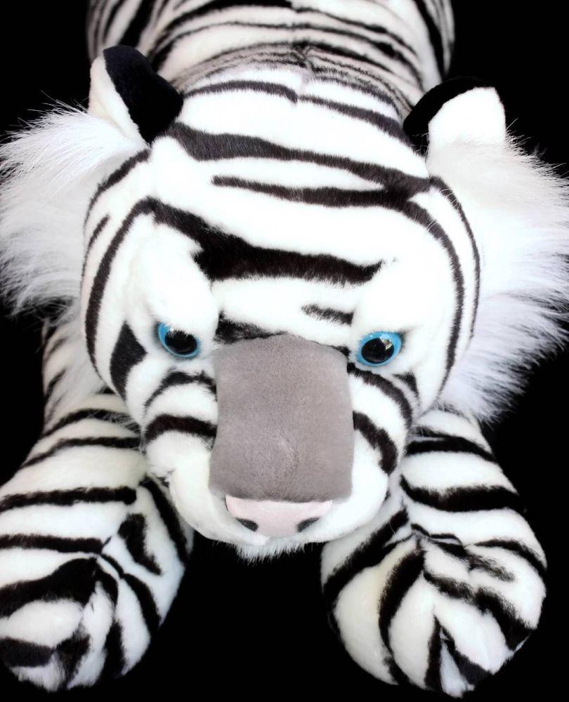 People Pals Huge White Tiger Plush Cat Aurora 28 Soft Toy Stuffed