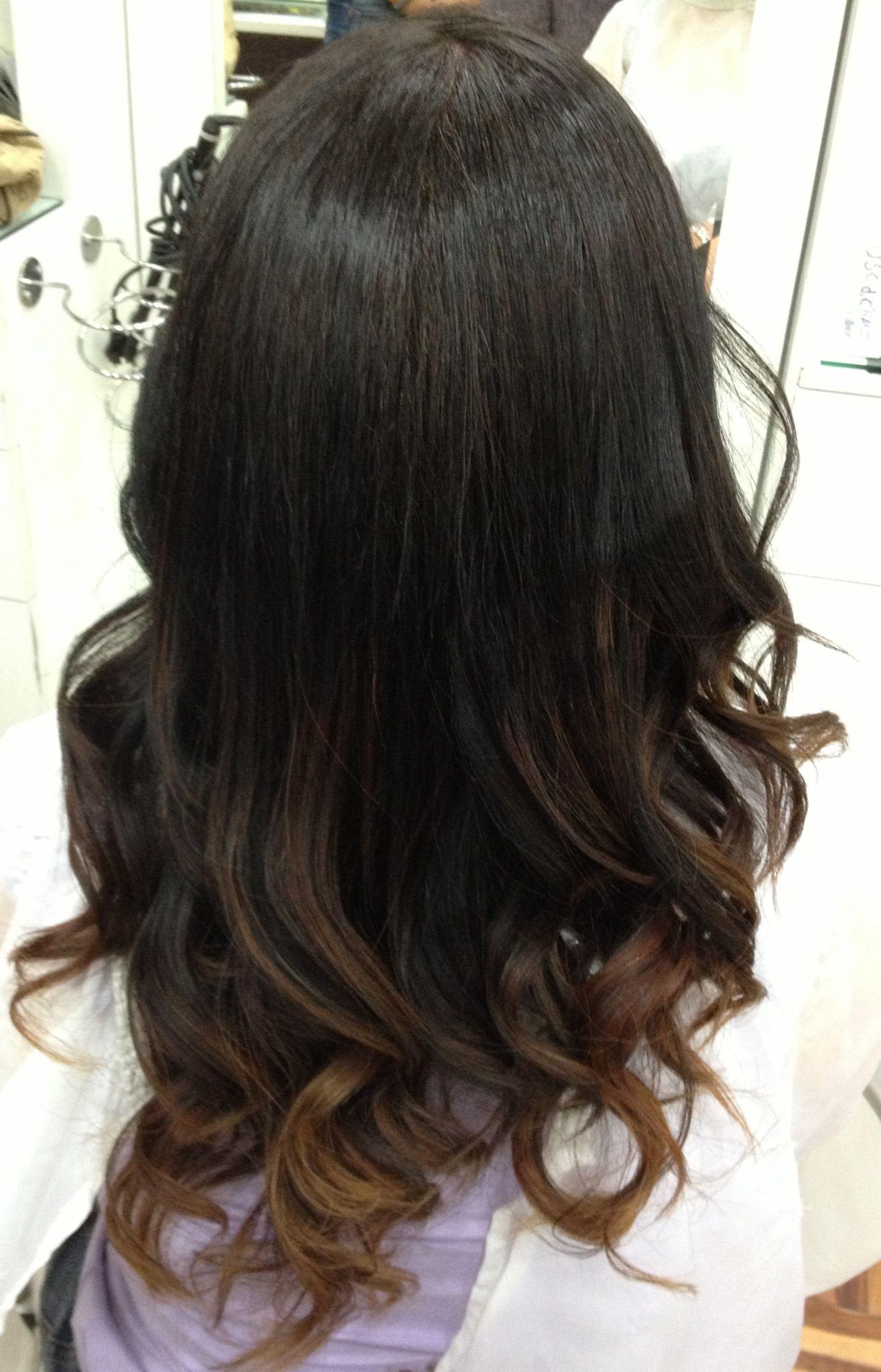 Ombre hair dark ombre hair mechas californianas mechas pinterest