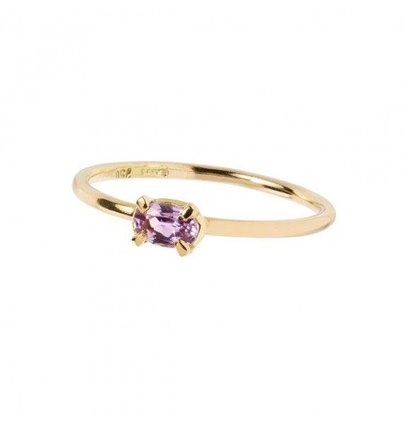 81a932c55f8 Ring i 18 karat guld sat med pink safir - Forever After