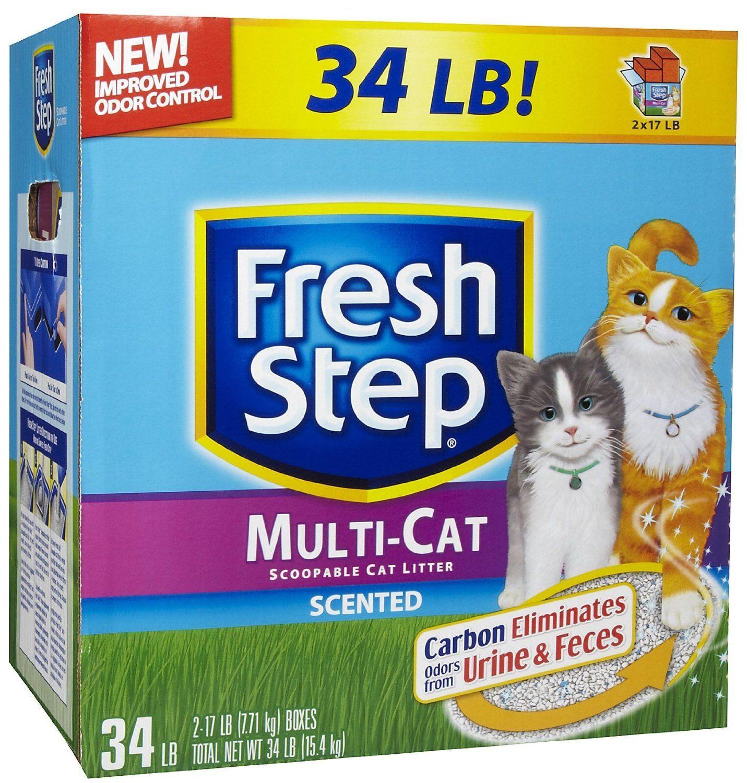 Amazon Fresh Step Multi Cat Scented Litter 34 lb Pet