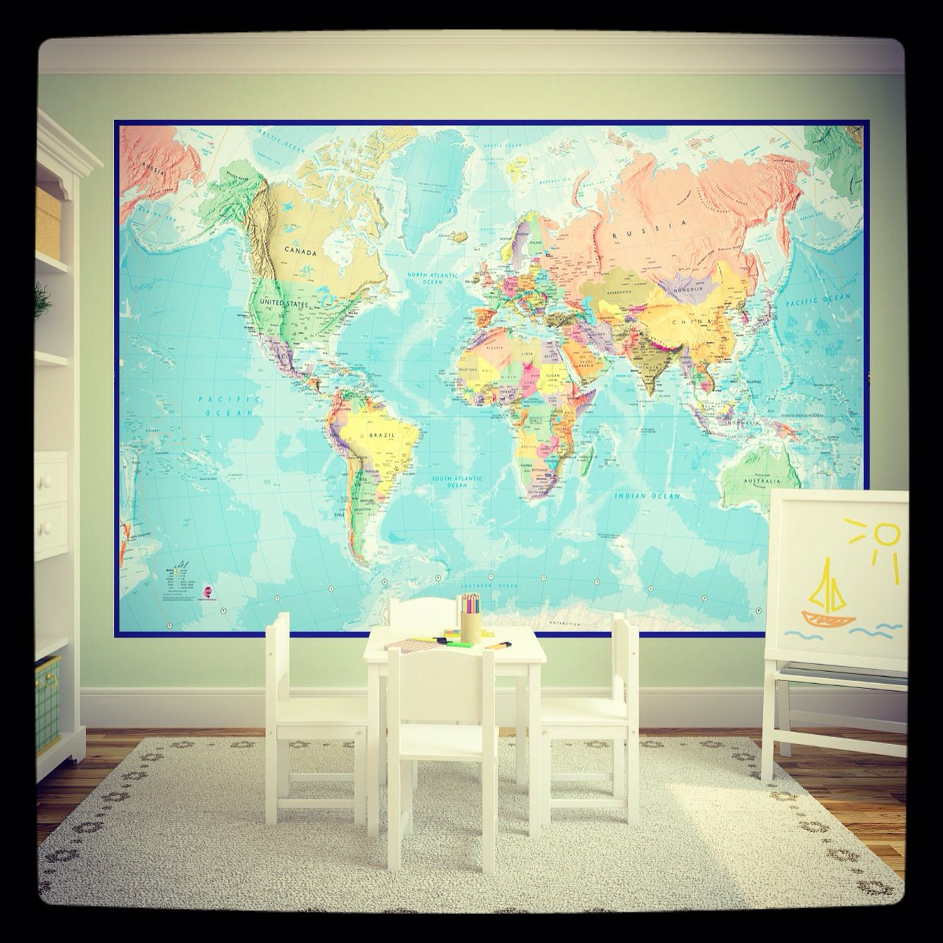 Giant world map mural now only 2900 including delivery map giant world map mural now only 2900 including delivery sciox Gallery