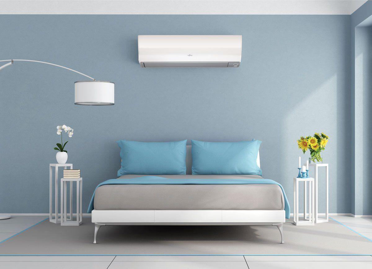 Bob Vila S 5 000 Beat The Heat Giveaway With Fujitsu General Blue Bedding Minimalist Bedroom Wood Bedroom