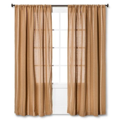 Nate BerkusTM Burlap Stripe Curtain Panel