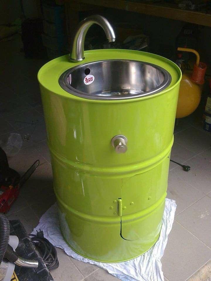 Be Creative Barrel Furniture Outdoor Toilet Outdoor Sinks