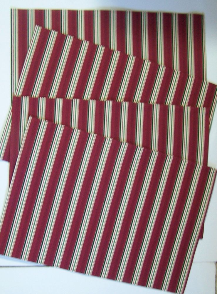 NEW Longaberger Set of Two Collectors Club Stripe Placemats
