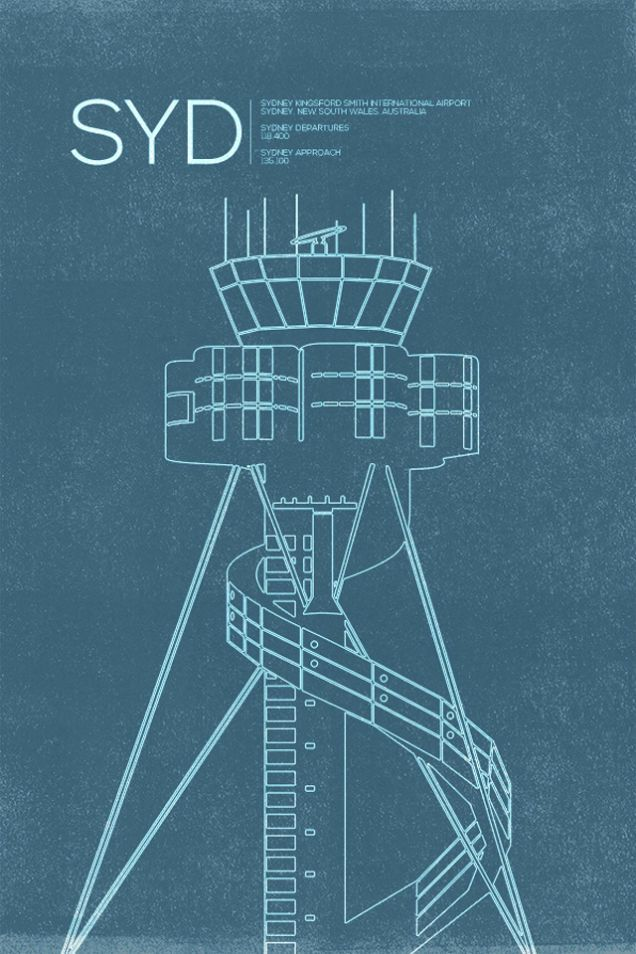 10 Graceful Posters Immortalizing the World's Air Traffic Control ...