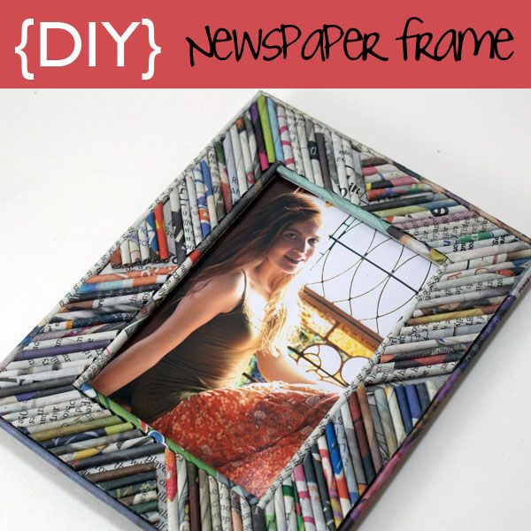 Picture Frame From Rolled Newspaper Reeds Cerceve Gazete