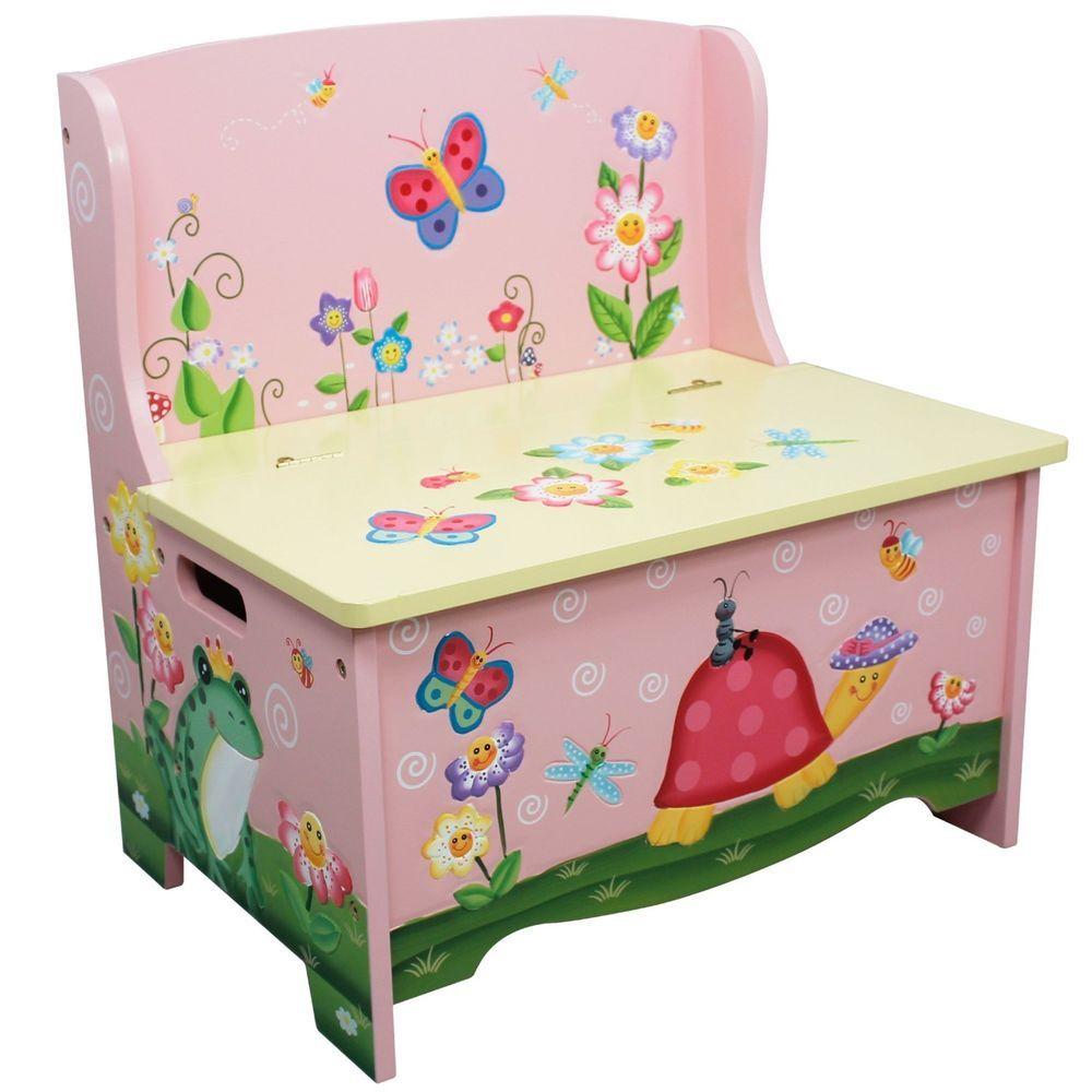Kids Storage Bench Hand Crafted Hand Painted Toy Organizer Unit Toybox Chest Kids Bedroom Storage Kids Storage Bench Toy Storage Bench