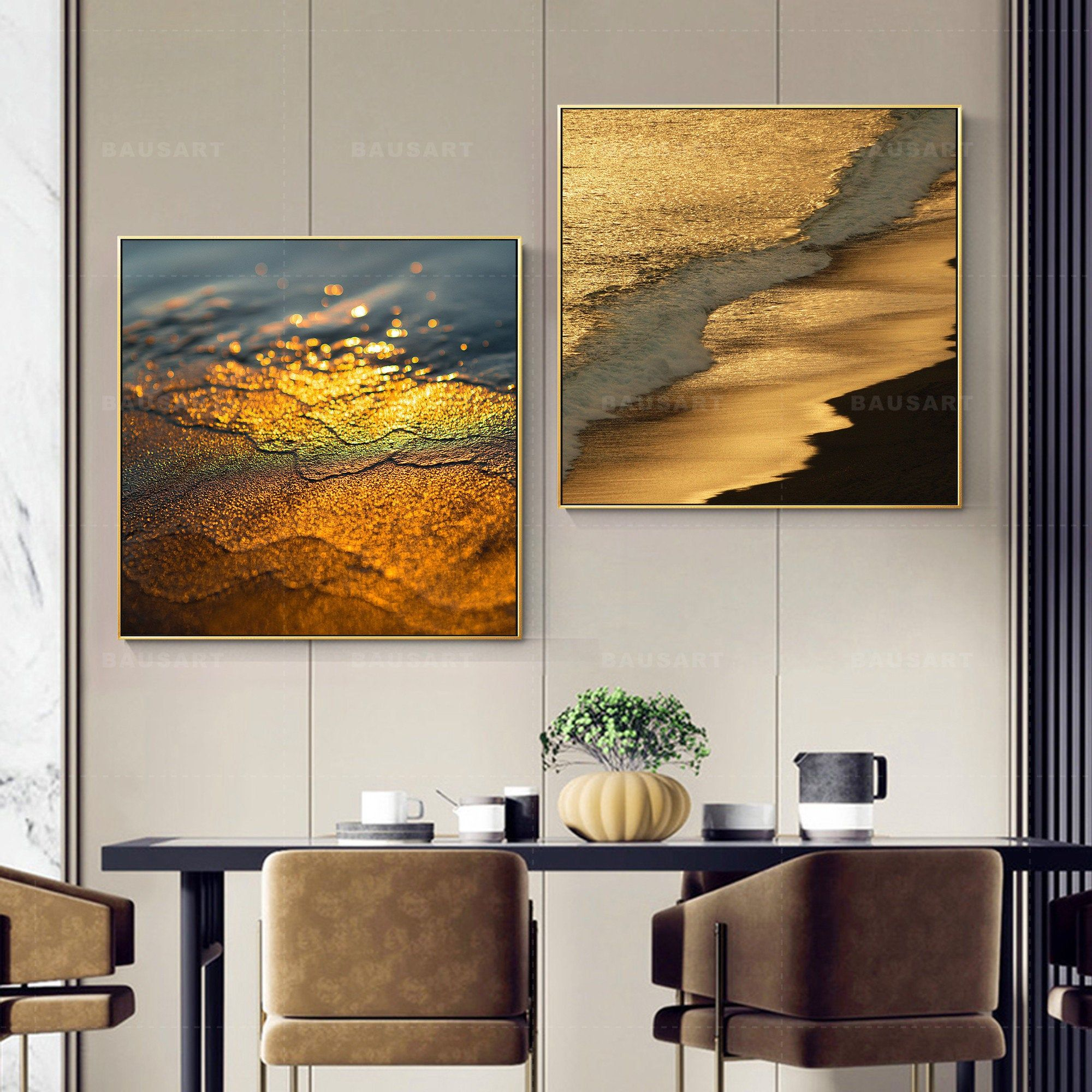 2 Pieces Framed Wall Art Set Of 2 Prints Beach Art Framed Etsy In 2021 Framed Wall Art Sets Beach Art Framed Frames On Wall