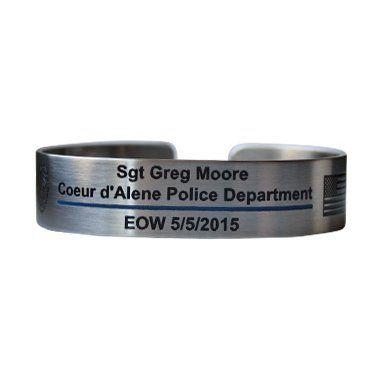 Metal Police Memorial Bracelets Di 2020