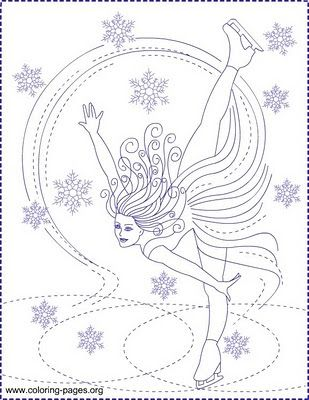 Nicole\'s Free Coloring Pages: ICE SKATING * ICE PRINCESS * Coloring ...