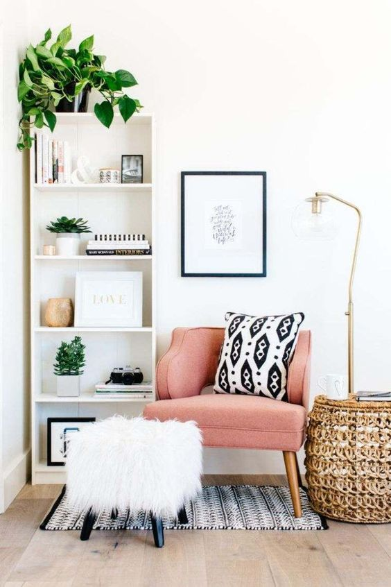 Pink Gold Living Room Decor Boho And Mid Century Modern Home Decor Room Decor Room Inspiration Living Room Designs #pink #and #gold #living #room #decor