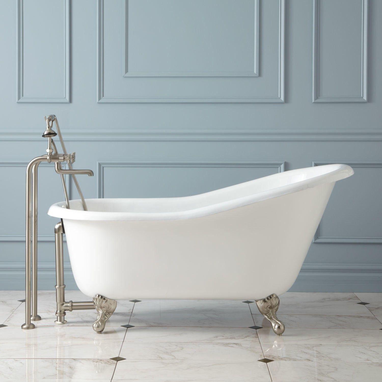 57 Erica Cast Iron Clawfoot Slipper Tub Ball Claw Feet Tubs Bathtubs Bathroom
