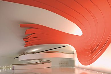 オスカー・ニーマイヤー展 《イビラプエラ公園 講堂内部》 Photo: Leonardo Finotti | HAPPY PLUS ART