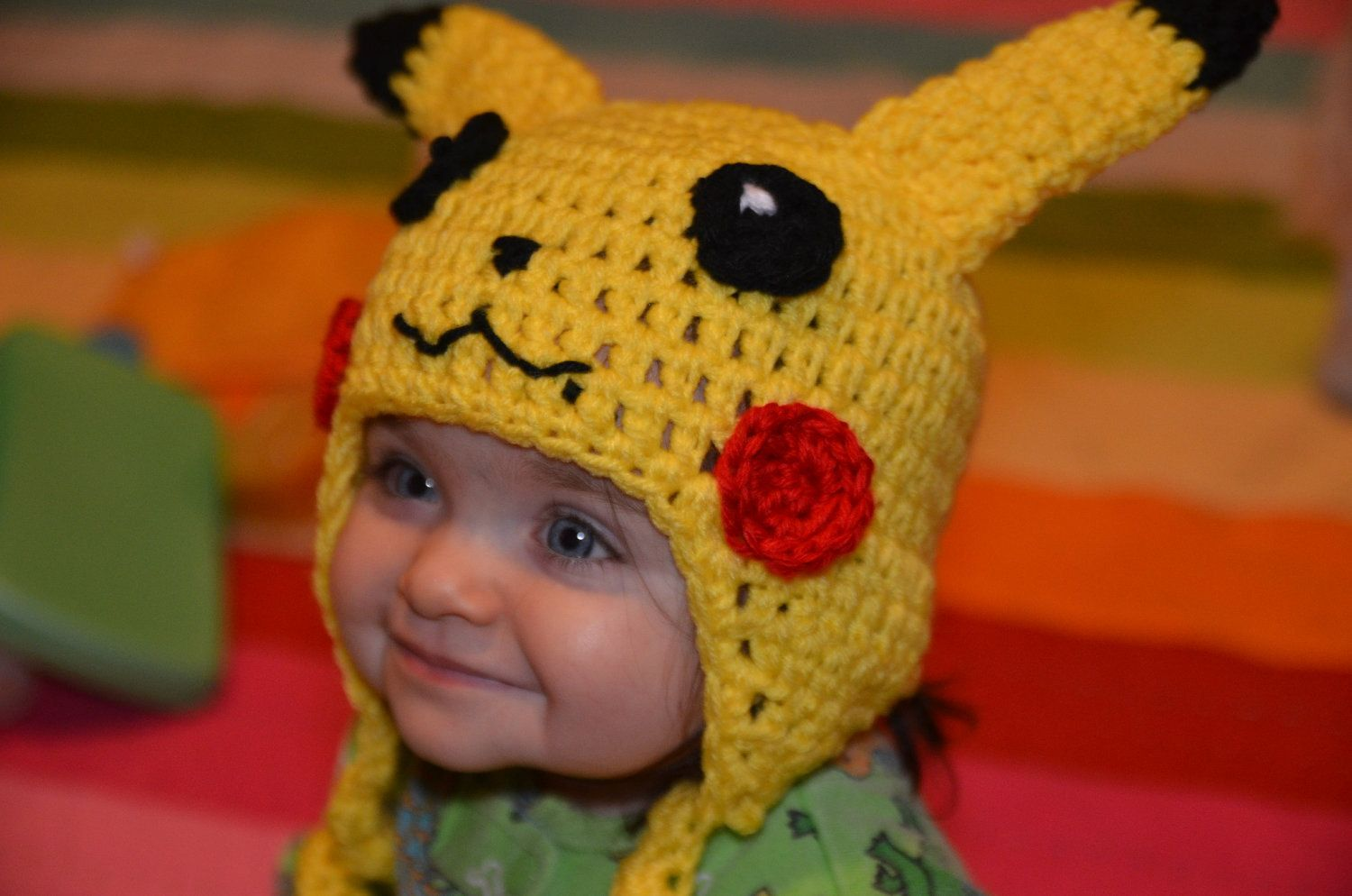 Knitted Pikachu Pattern : Pikachu Crochet Hat Pattern (Baby, Toddler, and Child sizes). USD8.99, via Etsy...