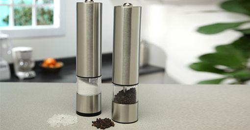Palm Restaurant Electric Salt Pepper Grinder Set Pepper Grinder Salt And Pepper Grinders Fall Produce