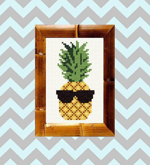 This fun and funky trio of cross stitch designs is totally on trend! Featuring everything that is so hot right now: watermelon, cactus and