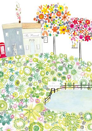 Artist Clare Tupper Range Daisy Patch Published in greeting - greeting card format