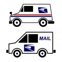 Mail Truck SVG Cuttable Design | Cricut | Truck crafts, Truck decals